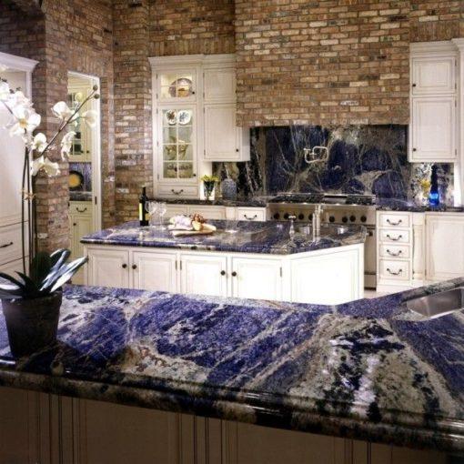 Sodalite Blue Top Granite Kitchen