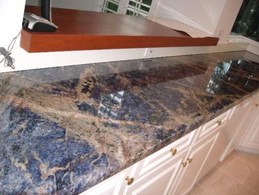 Sodalite Blue Top Granite Kitchen1