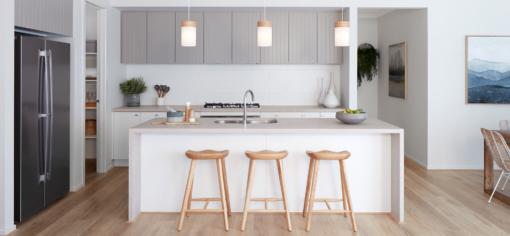Topus Concrete Caesarstone Quartz Kitchen Countertops