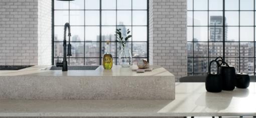 Topus Concrete Caesarstone Quartz Kitchen Island