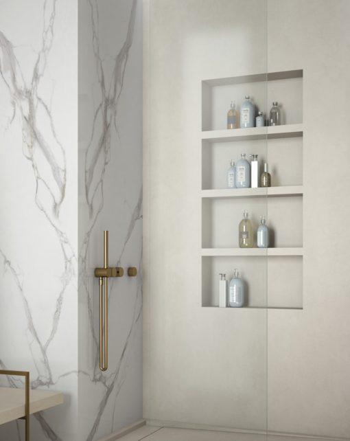 Total Ivory Infinity Porcelain Countertop Bathroom Shower Walls