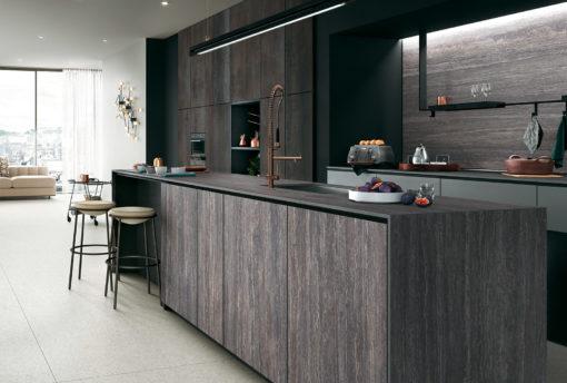 Travertino Grey Infinity Porcelain Kitchen Countertops