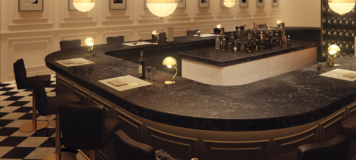 Vanilla Noir Caesarstone Quartz Bar