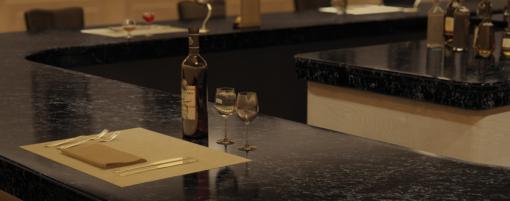 Vanilla Noir Caesarstone Quartz Bar Countertop