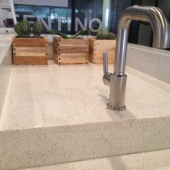 White Diamond Silestone Quartz Sink