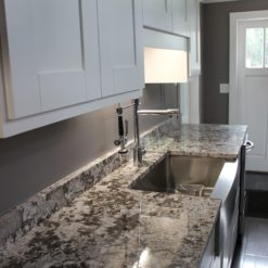 White Equador Granite Kitchen