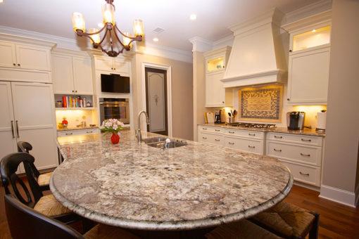 White Equador Granite Kitchen1