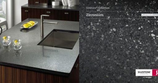 Zirconium Silestone Quartz Sample