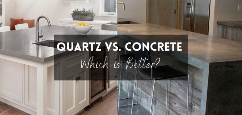 Quartz vs concrete Countertops Which is Better?